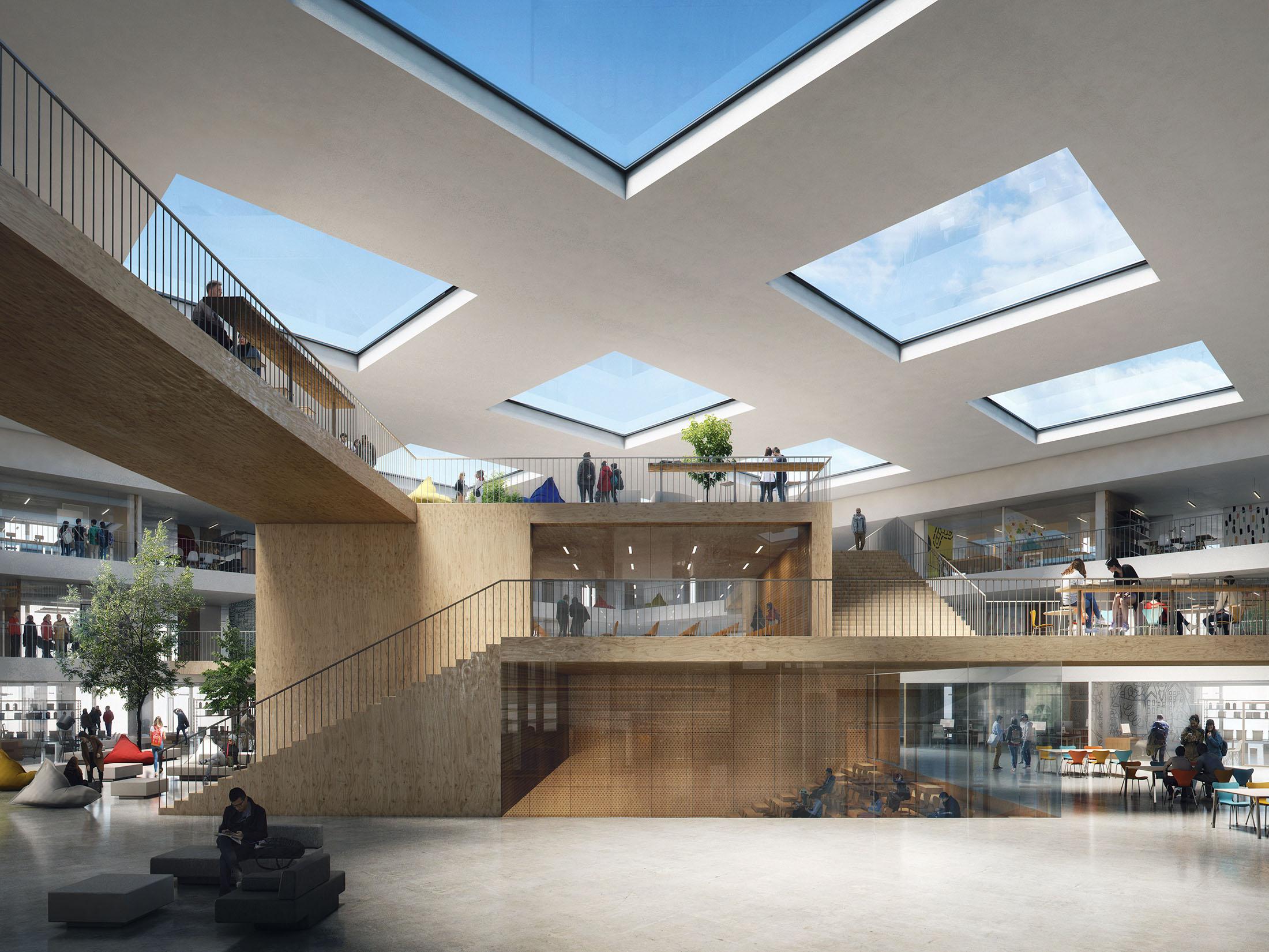 Aart Architects, Tiller High School, Norway, 2017