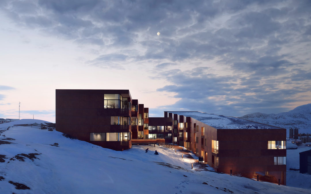 BIOSIS_Greenhouse Plot Housing_Snowy Courtyard