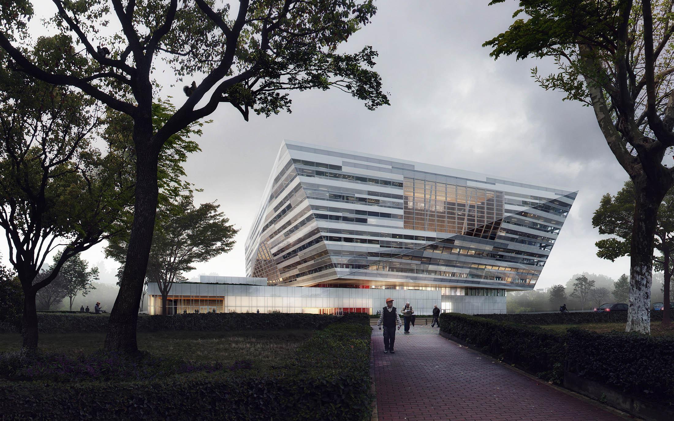 Schmidt Hammer Lassen, Shanghai Library, China, 2016