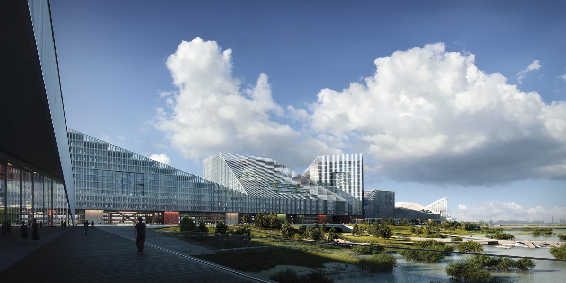 Schmidt Hammer Lassen Architects, Tencent Crystal City, China, 2018