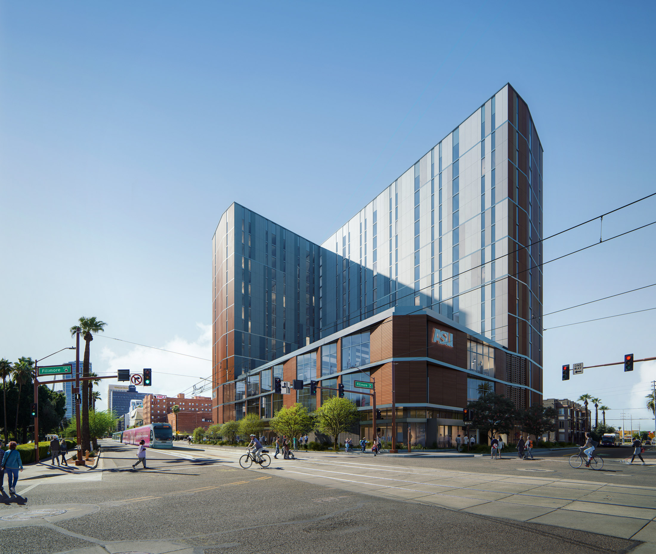 Studio MA, Live-Work Tower Complex for ASU, USA, 2019