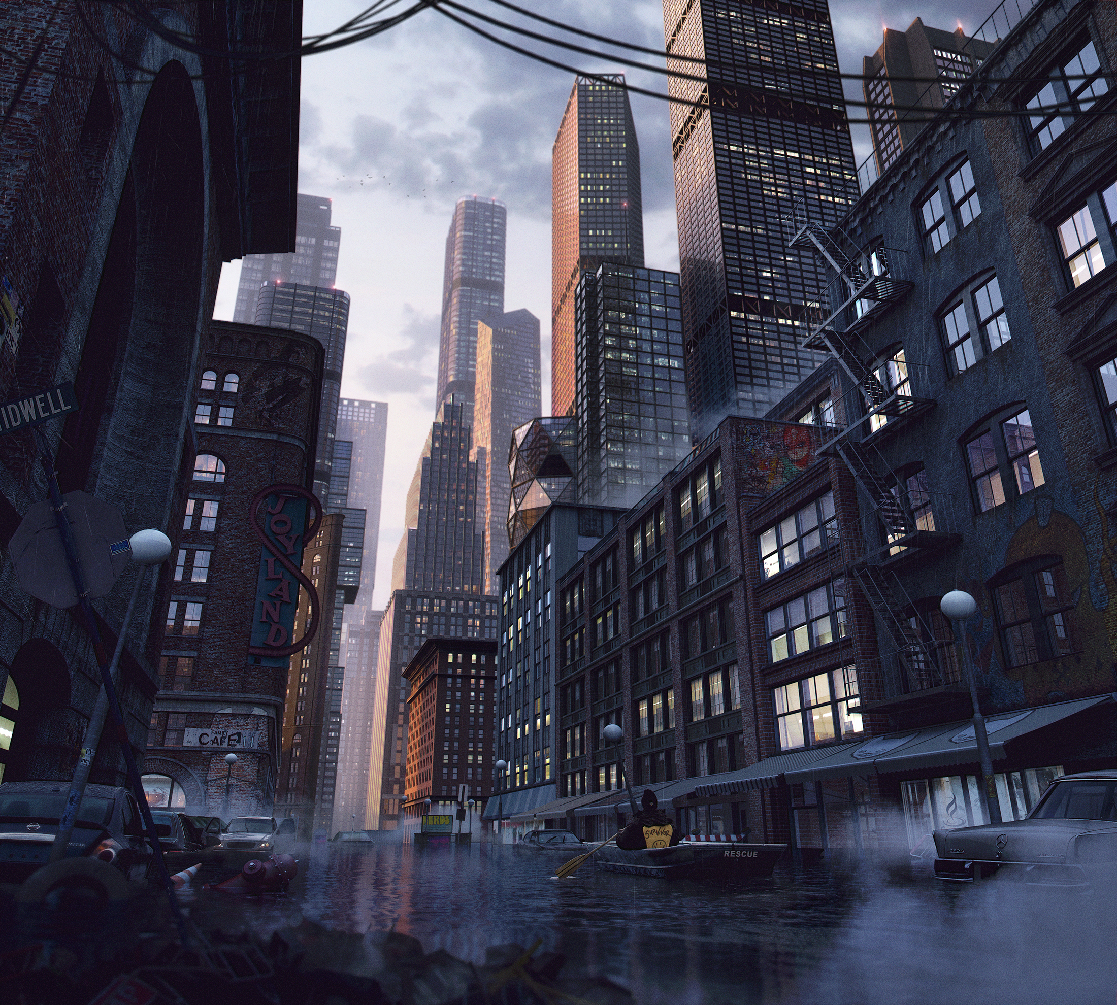 Survivalism, Kitbash 3D Every City Cover